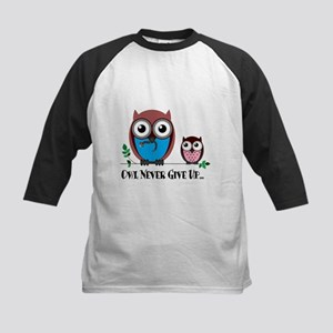 Owl Never Give Up (Dysautonomia) Baseball Jersey