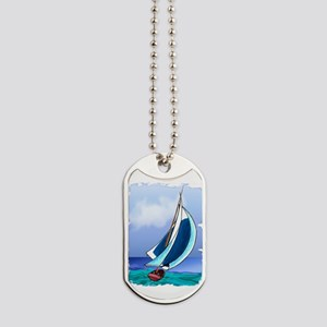 Sailing Away Dog Tags