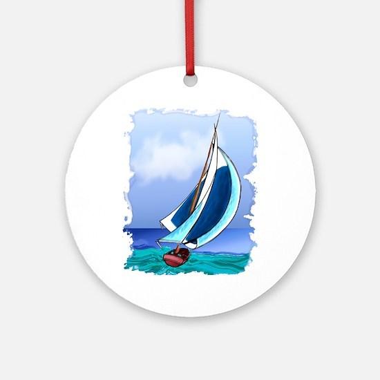 Sailing Away Ornament (Round)