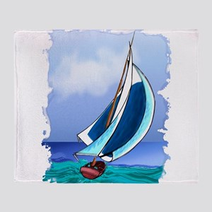 Sailing Away Throw Blanket