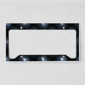 Lounge Leather - Black License Plate Holder