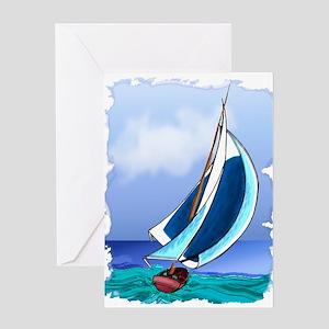 Sailing Away Greeting Cards