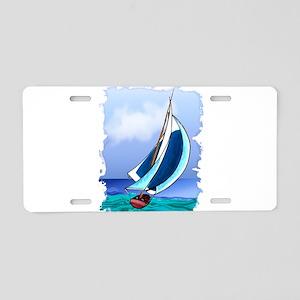 Sailing Away Aluminum License Plate