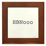 HBNooo Framed Tile