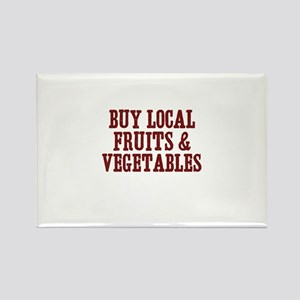 buy local fruits & vegetables Rectangle Magnet