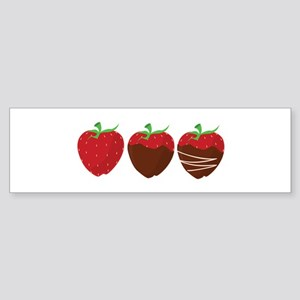 Chocolate Strawberry Bumper Sticker