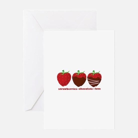 Strawberries & Chocolate Greeting Cards