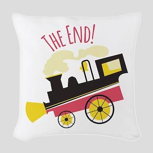 The End! Woven Throw Pillow