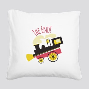 The End! Square Canvas Pillow