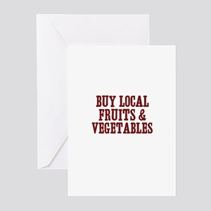 buy local fruits & vegetables Greeting Cards (Pack