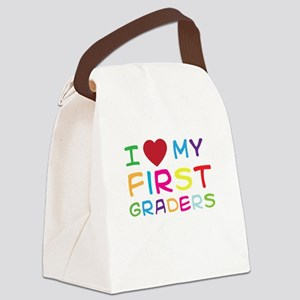 I love my first graders Canvas Lunch Bag