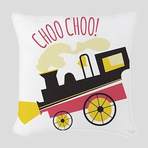 Choo Choo! Woven Throw Pillow