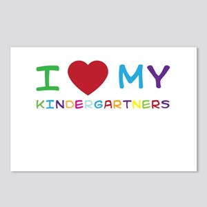 I love my kindergartners Postcards (Package of 8)