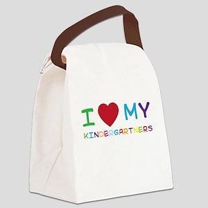 I love my kindergartners Canvas Lunch Bag