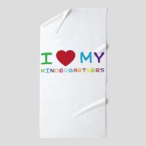 I love my kindergartners Beach Towel