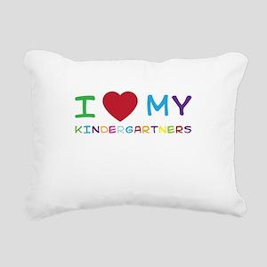 I love my kindergartners Rectangular Canvas Pillow