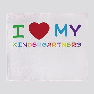 I love my kindergartners Throw Blanket