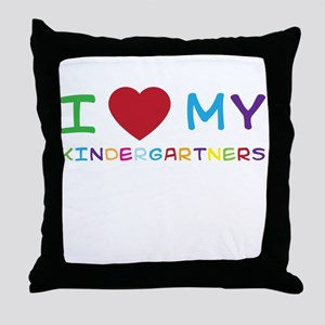 I love my kindergartners Throw Pillow