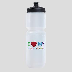 I love my kindergartners Sports Bottle