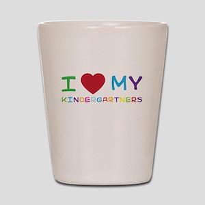 I love my kindergartners Shot Glass