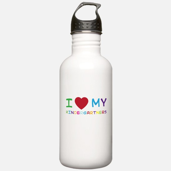 I love my kindergartners Water Bottle