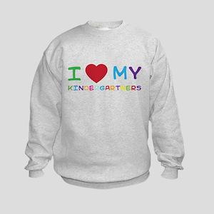 I love my kindergartners Sweatshirt