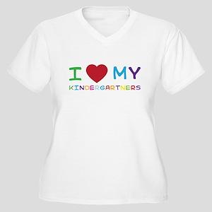I love my kindergartners Plus Size T-Shirt