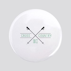 "Cross Country Ski 3.5"" Button"