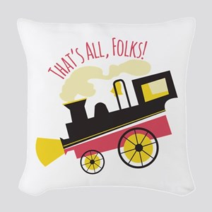 That's All, Folks! Woven Throw Pillow