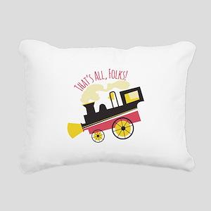 That's All, Folks! Rectangular Canvas Pillow