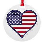 American Flag Heart Ornament