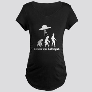 Darwin Was Half Right Maternity Dark T-Shirt