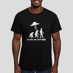 Darwin Was Half Right Men's Fitted T-Shirt (dark)