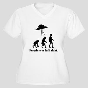 Darwin Was Half R Women's Plus Size V-Neck T-Shirt