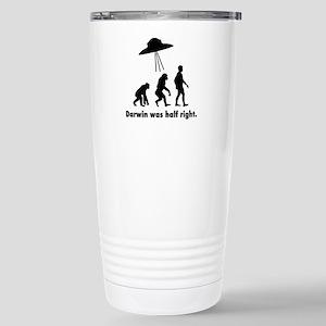 Darwin Was Half Right. Travel Mug