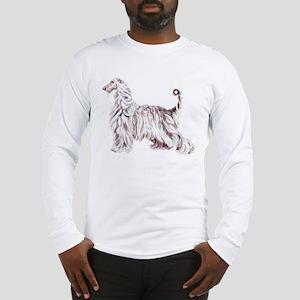 Afghan Hound Elegance Long Sleeve T-Shirt