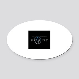 atheism reality Oval Car Magnet