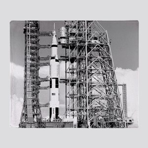 Saturn V Throw Blanket
