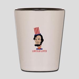 Lincoln Lover Shot Glass