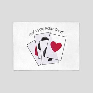 Poker Face? 5'x7'Area Rug