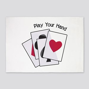 Play Your Hand 5'x7'Area Rug