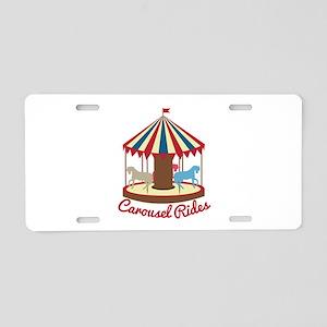 Carousel Rides Aluminum License Plate