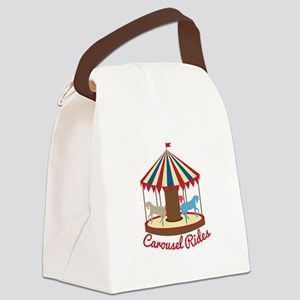 Carousel Rides Canvas Lunch Bag