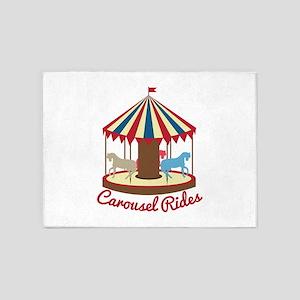 Carousel Rides 5'x7'Area Rug
