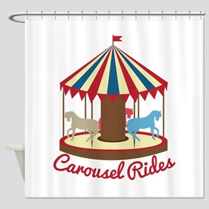 Carousel Rides Shower Curtain