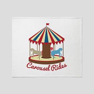 Carousel Rides Throw Blanket