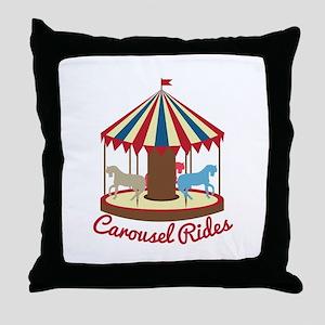 Carousel Rides Throw Pillow