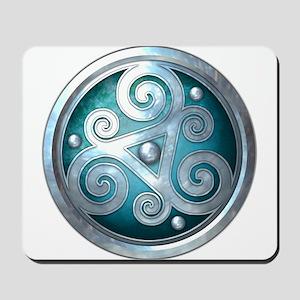 Celtic Double Triskelion - Teal Mousepad