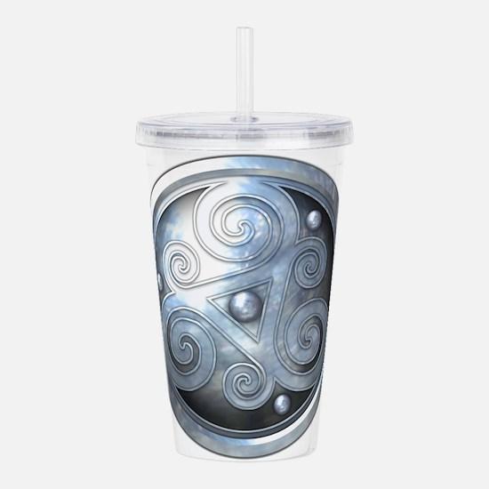 Celtic Double Triskeli Acrylic Double-wall Tumbler