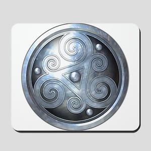 Celtic Double Triskelion - Silver Mousepad